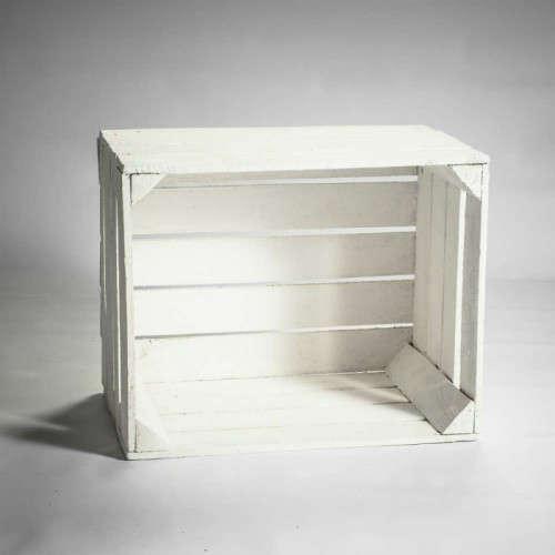 Caisse en bois blanche