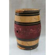 Tonneau en bois, chêne français 225L cerclage châtaignier réutilisable