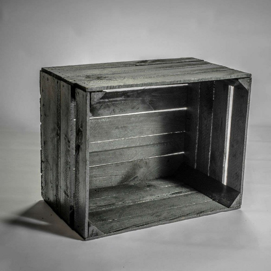 caisse en bois noir. Black Bedroom Furniture Sets. Home Design Ideas