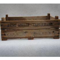 Ancienne caisse en bois marquée