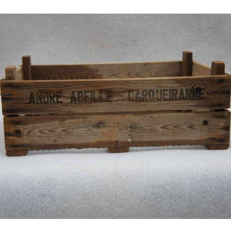 Ancienne caisse en bois marqu e madecovintage - Caisse en bois ancienne ...