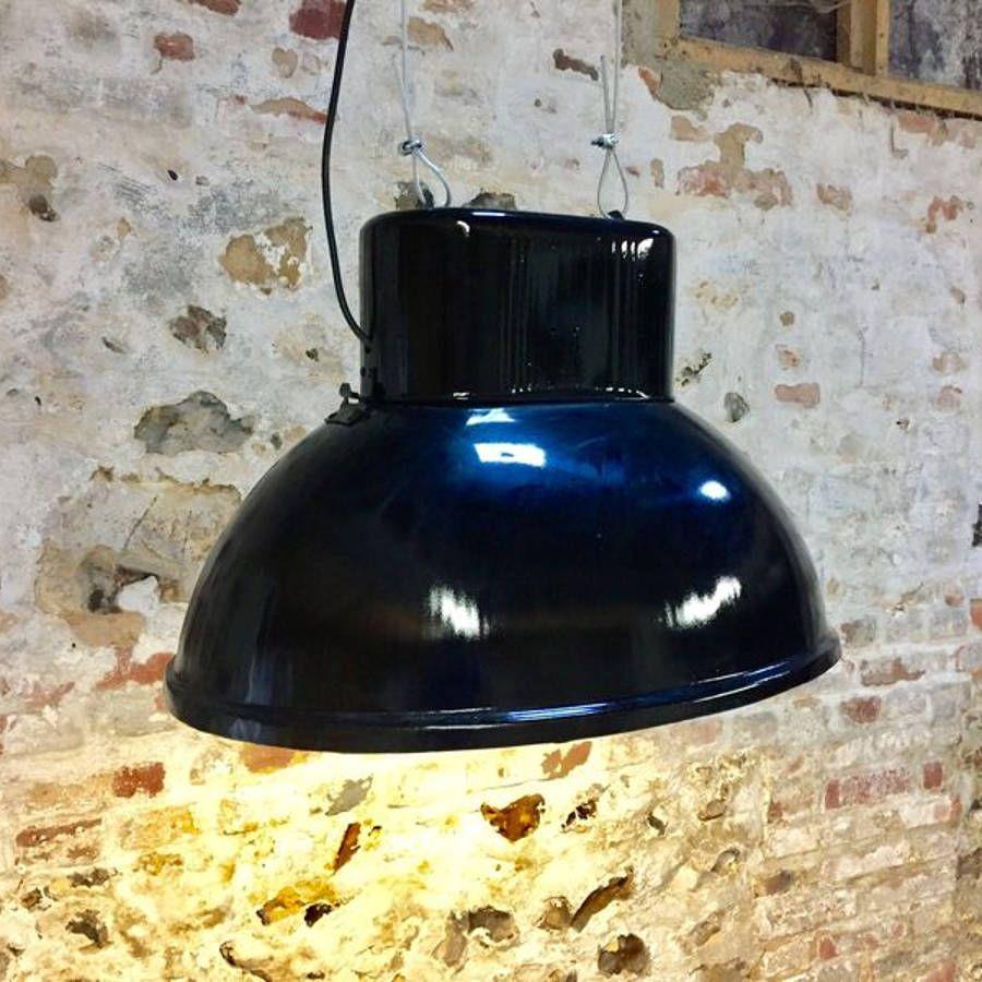 lampe industrielle ovale noire. Black Bedroom Furniture Sets. Home Design Ideas