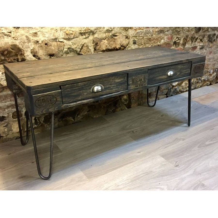 table basse palette industrielle vintage maison design. Black Bedroom Furniture Sets. Home Design Ideas