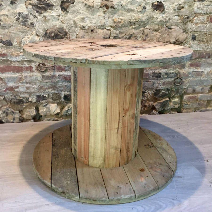 Touret en bois de taille moyenne 75cm de diam tre - Faire une table avec un touret de cable ...