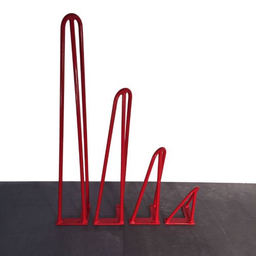 Pied de table rouge Hairpin leg 3 Branches