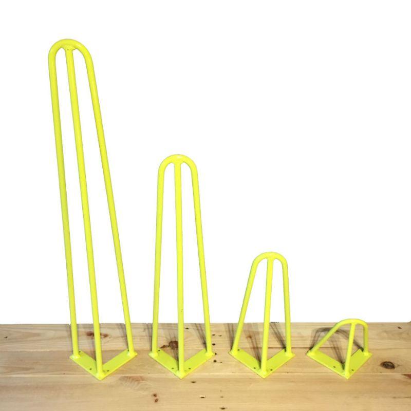Hairpin leg jaune anis 3 branches