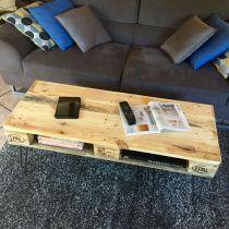 Caisse en bois vintage roulettes - Table basse en palette europe ...