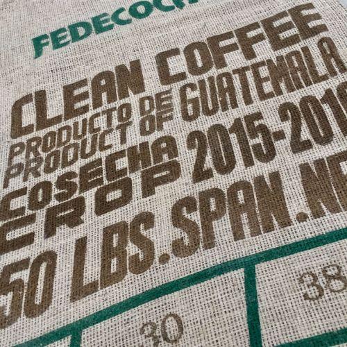 Sac de jute café de Guatemala