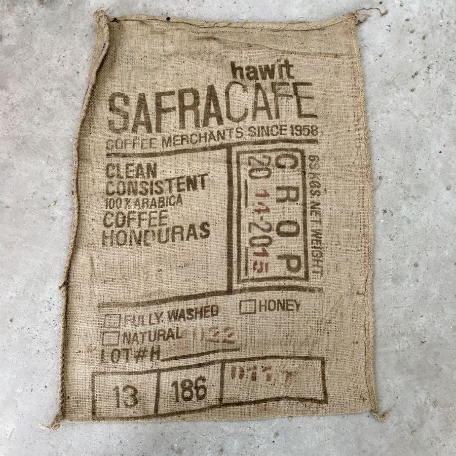 Sac de caf en toile de jute hawit safracafe honduras - Sac de cafe en grain ...