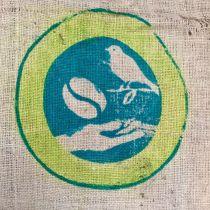 Sac de café toile de jute Oiseau café