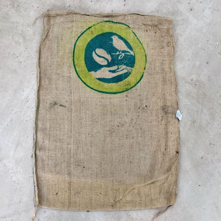 Sac de caf en toile de jute oiseau sac de jute - Sac de cafe en grain ...
