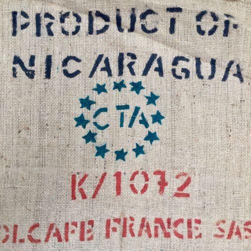 Sac de café en toile de jute Product of Nicaragua