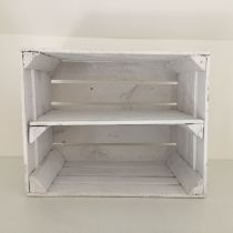 Etagère horizontale caisse en bois blanche