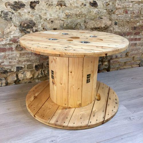 Touret en bois pour la décoration - Madecovintage