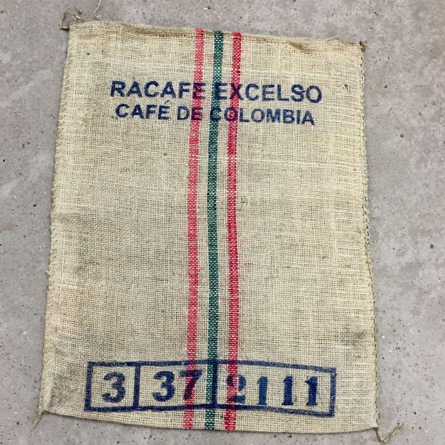 sac de caf authentique en toile de jute racaf colombian coffee. Black Bedroom Furniture Sets. Home Design Ideas