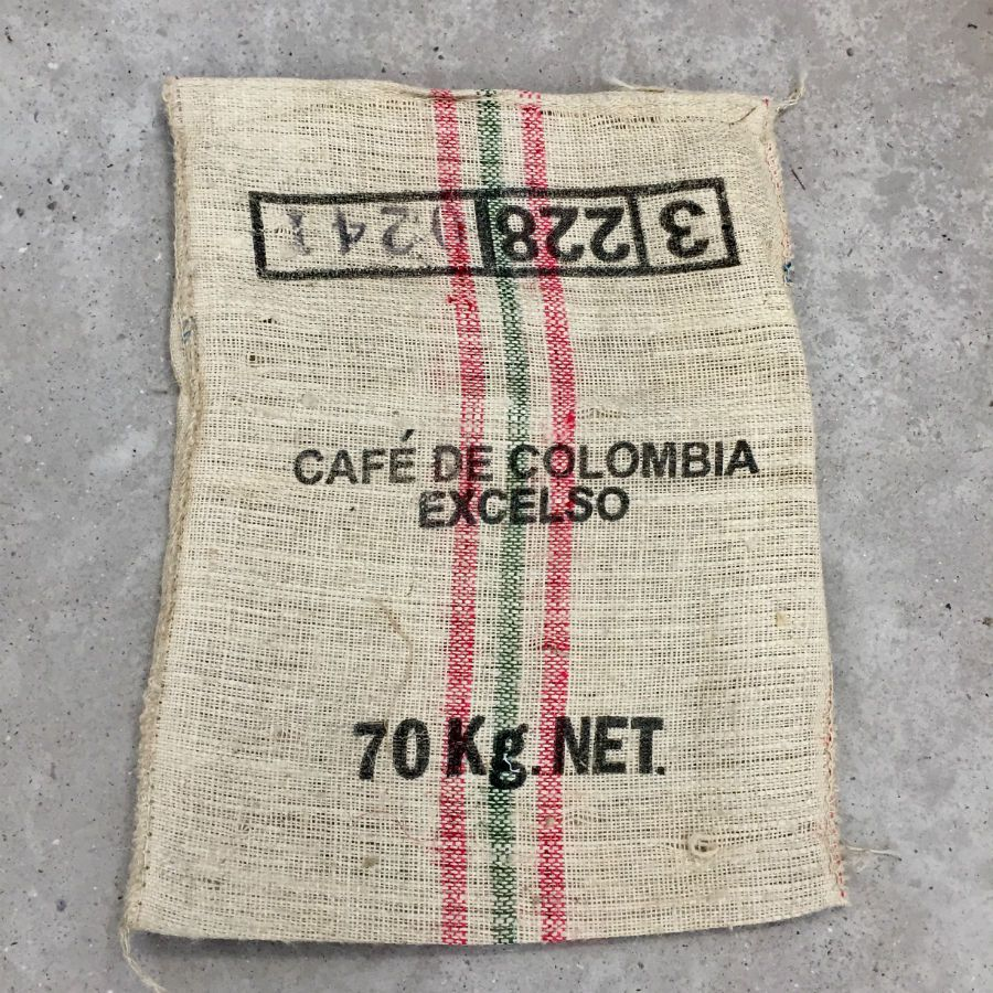 Sac de caf en sisal de colombie terre - Sac de cafe en grain ...