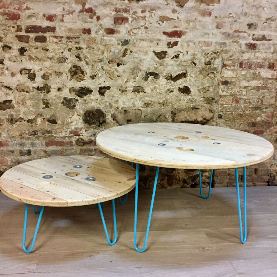 Table basse touret bois cheap table basse en touret guide - Touret en bois a donner ...