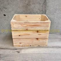 Caisse en bois 3 lattes naturelle 1/2 largeur
