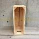 Caisse en bois 3 lattes naturelle 1/2 hauteur