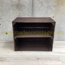 étagère horizontale déclassée caisse en bois marron