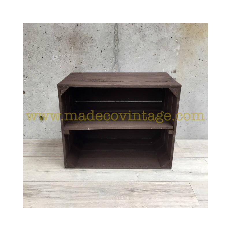 tag re horizontale faite en caisse pomme marron. Black Bedroom Furniture Sets. Home Design Ideas