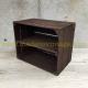 étagère horizontale caisse en bois marron