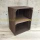 étagère verticale caisse en bois marron