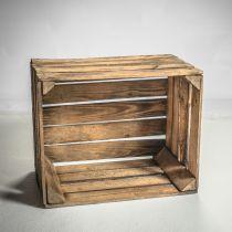 Ancienne Caisse en bois brûlé