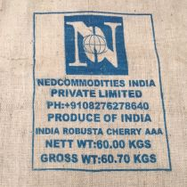 Ancien sac de café en toile de jute Nedcommodities India