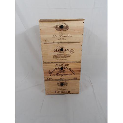 Colonne caisse à vin 4 compartiments